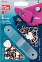 Naaivrijdrukknopen Jersey Gladde Kap zilver 10mm 9 stuks