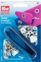Naaivrijdrukknopen Jersey Wit 10mm 10 stuks