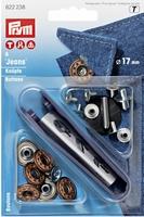 Naaivrije Jeans Knoop 17mm 6 stuks