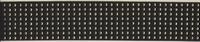 Elastiek 6 cm zwart met gouden plak studs 1 meter