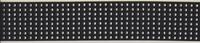 Elastiek 6 cm zwart met zilveren plak studs 1 meter