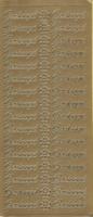 Stickervel Geslaagd goud 10 x 23 cm