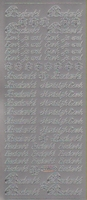Stickervel Text zilver 10 x 23 cm