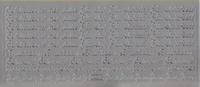 Stickervel Huwelijks Teksten zilver 10 x 23 cm