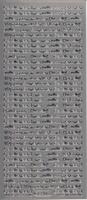 Stickervel Huwelijk Teksten Klein zilver 10 x 23 cm