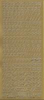 Stickervel Letters & Cijfers goud 10 x 23 cm