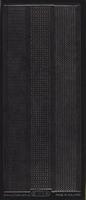 Stickervel 1016 zwart 10 x 23 cm