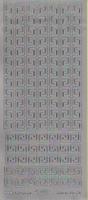 Stickervel 1103 zilver 10 x 23 cm