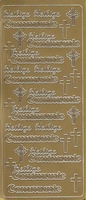 Stickervel communie goud 10 x 23 cm