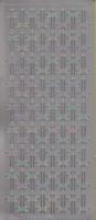 Stickervel kruis zilver 10 x 23 cm