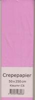 Crepepapier 50x250cm Roze