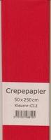 Crepepapier 50x250cm Rood