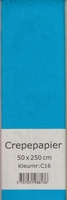 Crepepapier 50x250cm Aqua