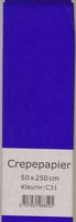 Crepepapier 50x250cm Blauw