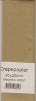 Crepepapier 50x250cm Goud