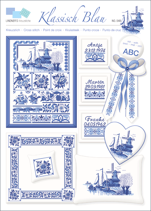 Lindner's borduurpatroon Delfts blauw
