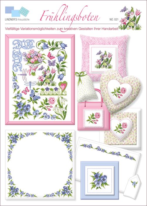 Lindner's borduurpatroon Voorjaarsbloemen