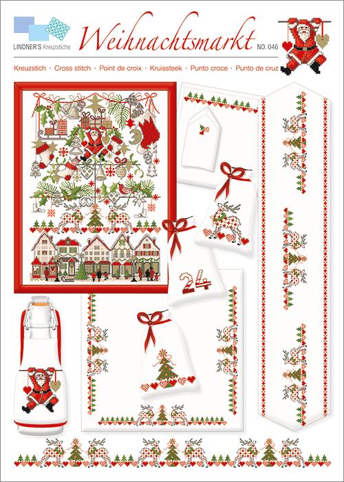 Lindner's borduurpatroon Kerstmarkt