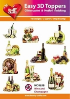 Easy 3D Designs pakket Wine and Champagne