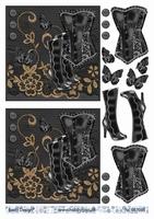 3D stappenvel Gothic A4