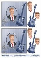 3D Stappenvel Jongeman gitaar A4