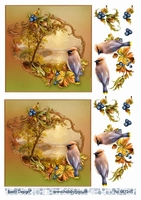 3D Stappenvel Vogel A4