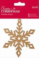 DC Wooden Shape Snowflake