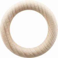 Houten Ring 55mm Ø, 10mm dik 2 stuks