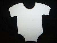 Styropor baby rompertje 30 x 30 x 3 cm