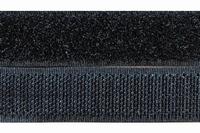 Klittenband 50mm breed, zwart 0,50 Meter