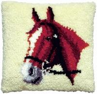 Knoopkussen Paarden hoofd 40 x 40 cm