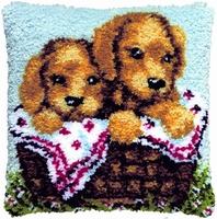 Knoopkussen Puppies 40 x 40 cm