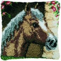 Knoopkussen Paard 40 x 40 cm