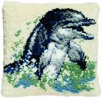 Knoopkussen Dolfijn 40 x 40 cm