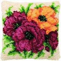 Knoopkussen Gele en Roze Rozen 40 x 40 cm