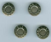 Jeans inslag knoop savari 17mm zilver 4 stuks