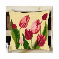 Kruissteekkussenpakket Tulpen 40 x 40 cm