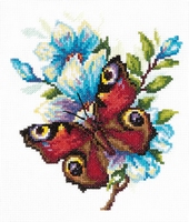 Borduurpakket Peacock butterfly - Chudo Igla