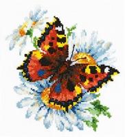 Borduurpakket Butterfly and daisies - Chudo Igla