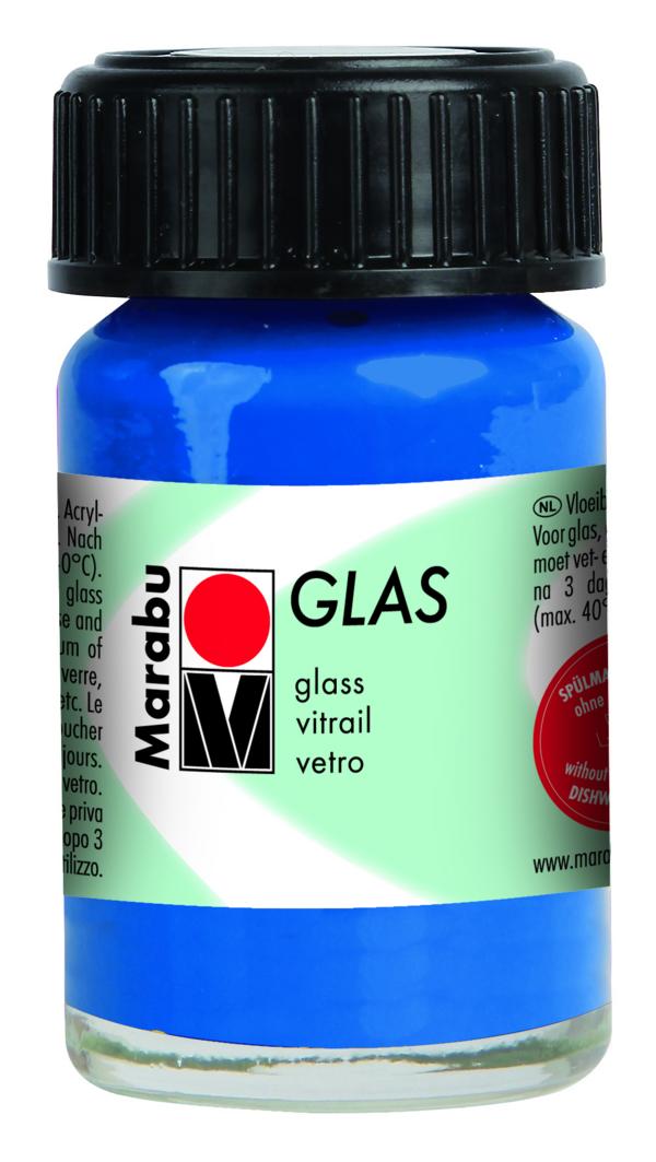 Marabu Glasverf Ultramarijn donker blauw  15 ml