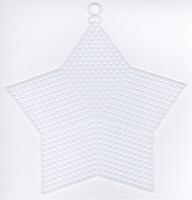 Plastic stramien ster 13 cm 4 stuks