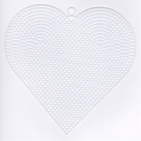 Plastic stramien hart 15 cm 4 stuks