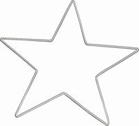 Draad-ster 15cm