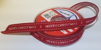 Geweven Lint Merry Christmas 1 meter