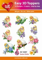 Easy 3D-Toppers, Easter Chicks