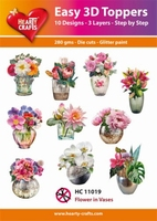 Easy 3D-Toppers, Flower in Vases