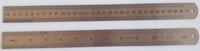 Metalen liniaal 30 cm / 12 inch RVS
