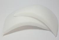 Schoudervullingen recht wit (mini) 1 paar