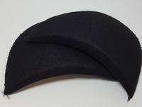 Schoudervullingen recht zwart (mini) 1 paar