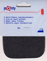 Kniestukken Jeans Zwart 1 paar